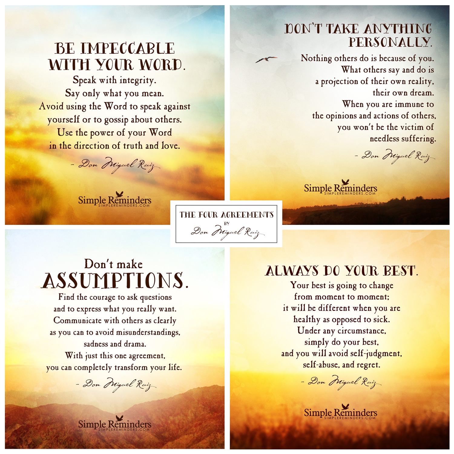 Four Agreements Quotes The Four Agreements  Whole Self Therapy